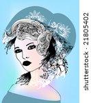 floral girl   Shutterstock .eps vector #21805402