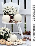 Beautiful White Pumpkins And...