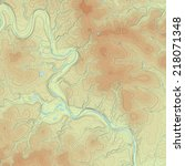 realistic topographic map of an ... | Shutterstock .eps vector #218071348