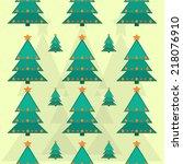 seamless pattern of christmas... | Shutterstock .eps vector #218076910