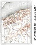 map of oran province  vintage... | Shutterstock . vector #218081254