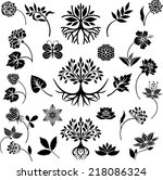 nature collection | Shutterstock .eps vector #218086324