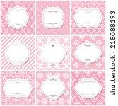 elegant frame set on seamless... | Shutterstock .eps vector #218088193
