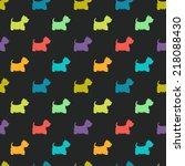 seamless pattern with colorful... | Shutterstock .eps vector #218088430