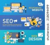 responsive design   seo ... | Shutterstock .eps vector #218094499