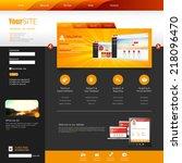 template for website  eps10... | Shutterstock .eps vector #218096470