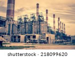electricity plant   industry... | Shutterstock . vector #218099620
