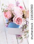 postcard with fresh summer... | Shutterstock . vector #218100583