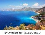 view of the coast in oludeniz ...