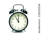 alarm clock on white background.... | Shutterstock . vector #218105536