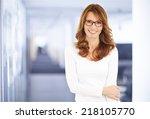 portrait of executive... | Shutterstock . vector #218105770