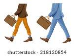 Walking Businessmen With...