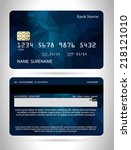 templates of credit cards... | Shutterstock .eps vector #218121010
