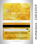 templates of credit cards... | Shutterstock .eps vector #218121019
