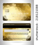 templates of credit cards... | Shutterstock .eps vector #218121088