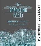 retro styled sparkling glitter... | Shutterstock .eps vector #218123254