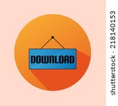orange circle flat label icon... | Shutterstock .eps vector #218140153
