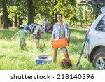 multi generation family... | Shutterstock . vector #218140396