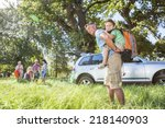 multi generation family... | Shutterstock . vector #218140903