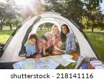 multi generation family... | Shutterstock . vector #218141116