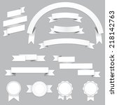 set of blank banners and... | Shutterstock .eps vector #218142763