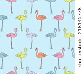 vector seamless pattern with... | Shutterstock .eps vector #218145778
