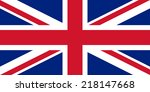 united kingdom flag  union jack ... | Shutterstock .eps vector #218147668
