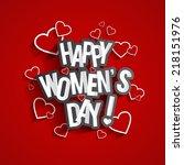 happy women's day design with... | Shutterstock .eps vector #218151976