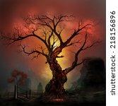 Horror Tree On A Haunted...