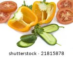 colorful vegetables | Shutterstock . vector #21815878