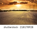 road at sunset | Shutterstock . vector #218178928