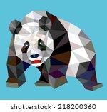 panda triangle low polygon... | Shutterstock .eps vector #218200360