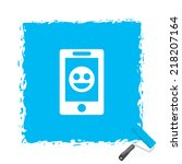 beautiful phone smile web icon   Shutterstock .eps vector #218207164