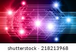colorful light abstract... | Shutterstock .eps vector #218213968
