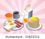 complete breakfast with bacon... | Shutterstock .eps vector #21822211