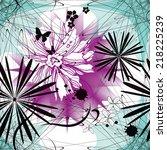 seamless geometric vector... | Shutterstock .eps vector #218225239
