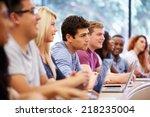 class of university students... | Shutterstock . vector #218235004