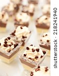 chocolate and vanilla cupcakes   Shutterstock . vector #218241940