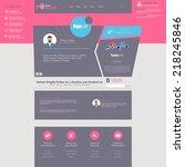 flat website template with...   Shutterstock .eps vector #218245846