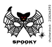 creepy  bat mask  bid and...   Shutterstock .eps vector #218266393