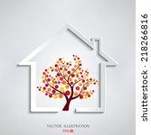 eco house vector   Shutterstock .eps vector #218266816
