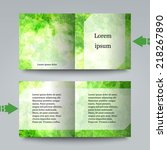 brochure template with abstract ... | Shutterstock .eps vector #218267890
