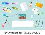flat design vector creative... | Shutterstock .eps vector #218269279