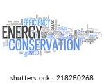word cloud with energy... | Shutterstock . vector #218280268