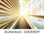 escalator | Shutterstock . vector #218283529