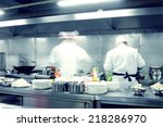 motion chefs of a restaurant... | Shutterstock . vector #218286970