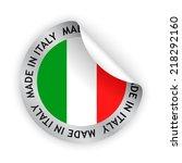 vector white bent sticker with... | Shutterstock .eps vector #218292160