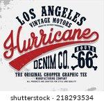 los angeles tee graphics | Shutterstock .eps vector #218293534