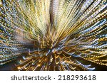 Concentric glowing lights lines - stock photo
