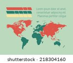 map of the world | Shutterstock .eps vector #218304160